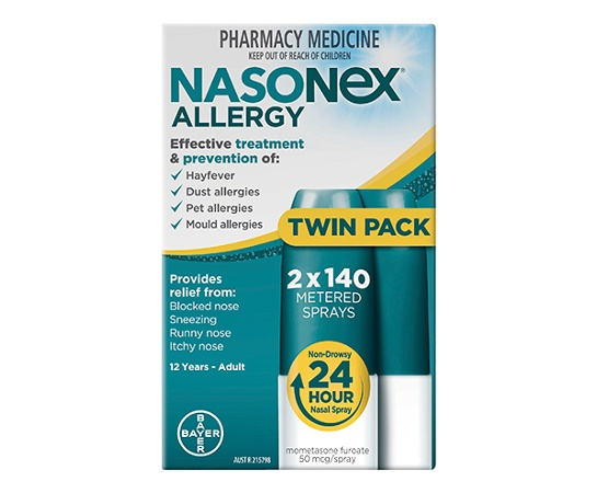 Nasonex Allergy Nasal Spray 2 x 140 Metered Sprays