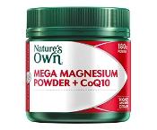 Natures Own Mega Magnesium Powder + COQ10 180g