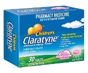 Claratyne Childrens Hayfever & Allergy Relief Bubblegum 30 Chewable Tablets
