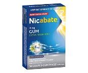 Nicabate Gum Extra Fresh Mint Extra Strength 4mg Quit Smoking 30 Pack