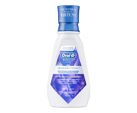 Oral B 3D White Luxe Diamond Strong Alcohol Free Rinse 473ml