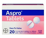 Aspro Regular 320mg 20 Tablets