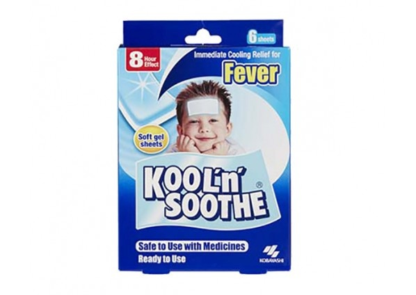 Kool 'n Soothe Fever Relief Strips Kids 6 Sheets
