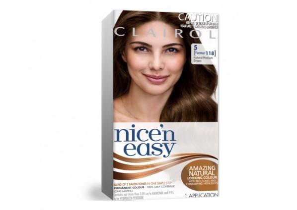Clairol Nice N Easy 5 Natural Medium Brown