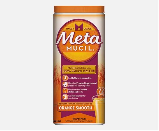 Metamucil Fibre Supplement Smooth Orange 425g 72 Doses