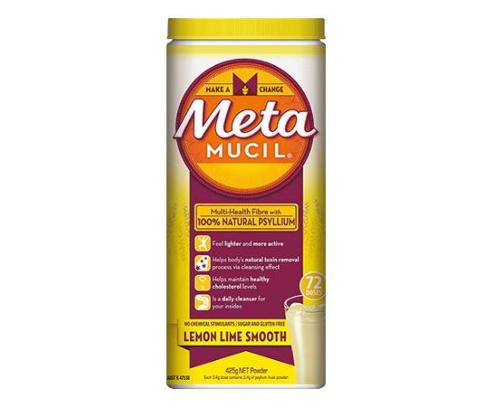 Metamucil Fibre Supplement Lemon Lime Smooth 425g 72 Doses