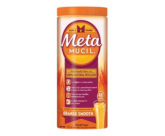 Metamucil Fibre Supplement Smooth Orange 283g 48 Doses (REPAT GOLD CARD ONLY)