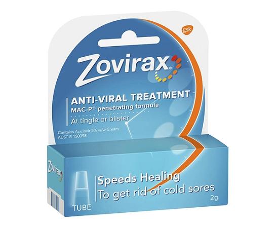Zovirax Anti-Viral Cold Sore Cream Tube 2g