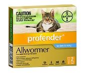 Profender Cats Allwormer Medium Blue 2.5-5kg 2 x 0.7ml