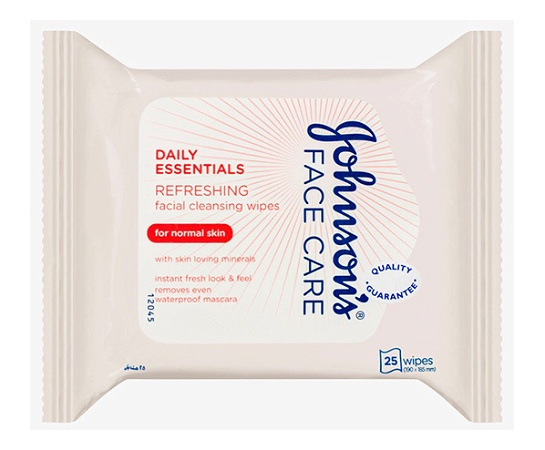 Johnsons Refreshing Cleansing for Normal Skin 25 Facial Wipes