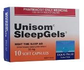 UNISOM SLEEP GELS 10 CAPS S3