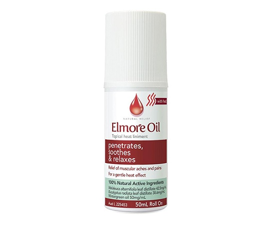 Elmore Oil Topical Heat Liniment Roll On 50ml