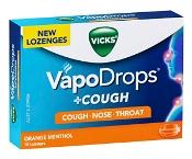 Vicks VapoDrops + Cough Orange Menthol 16 Pack