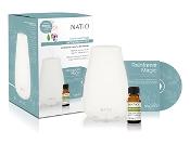 Natio UltraSonic Essential Oil Diffuser +10ml Oil