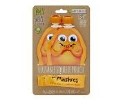 Little Mashies Reusable Squeeze Pouch Orange 130ml x 2