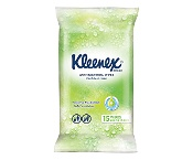 Kleenex Anti Bacterial Wet Wipes with Tea Tree Extract 15 Pack