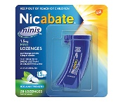 Nicabate Minis Lozenges 1.5mg Mint Quit Smoking 20 Lozenges