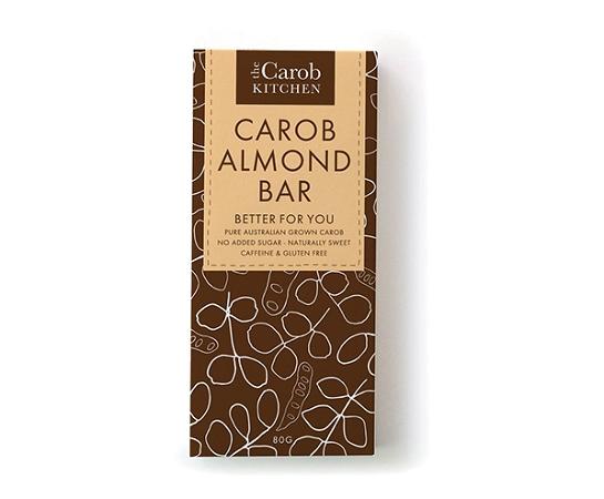 The Carob Kitchen Carob Almond Bar 80g