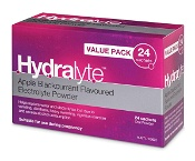 Hydralyte Electrolyte Powder Apple Blackcurrent 24 Sachets