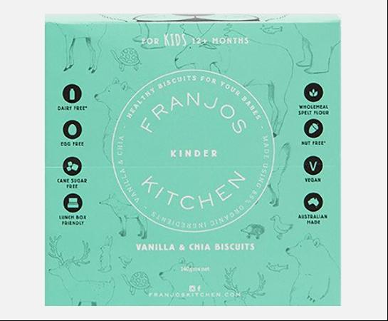 Franjos Kitchen Kinder Vanilla & Chia Biscuits 140g
