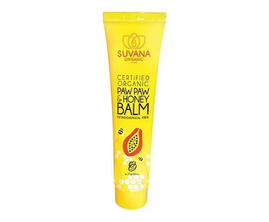 Suvana Certified Organic Pawpaw & Honey Lip Balm 25g