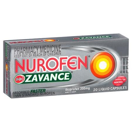 Nurofen Zavance Liquid Capsules 20 Capsules