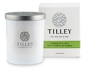 Tilley Scented Soy Candle Coconut & Lime 240g