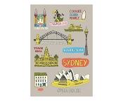 KE Design Tea Towel Sydney Collage