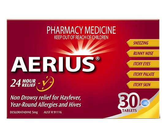 Aerius 24 Hour Relief 30 Tablets