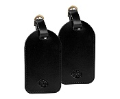 Globite LeatherLook Luggage Tags 2pk