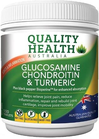 Quality Health Glucosamine Chondroitin + Tumeric 100 Tablets