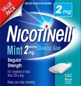 Nicotinell Gum Mint 2mg (Regular Strength) 144 Pack