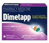 Dimetapp Daytime/Nightime Cough, Cold & Flu 48 Liquid Caps