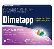 Dimetapp Daytime/Nightime Cough, Cold & Flu 24 Liquid Caps