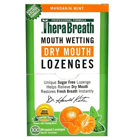 TheraBreath Dry Mouth Lozenges Mandarin Mint 100 Pack