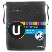 U by Kotex Ultra Thin Regular No Wing 14 Pack