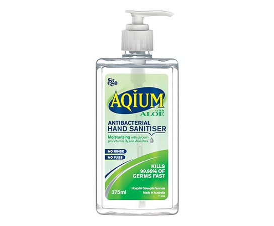 Aqium with Aloe Antibacterial Hand Sanitiser 375ml
