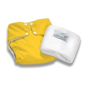Pea Pods Reusable Nappy One Size Bright Yellow