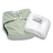Pea Pods Reusable Nappy One Size Pastel Green