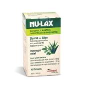 Nulax Natural Laxative with Senna & Aloe 40 Tablets