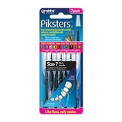 Piksters Size 7 Black 7 Pack