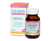 Fab Iron + Vitamin B + Zinc 60 Capsules