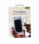 Thinoptics Glasses Black Pod Black Frame 2 Strength