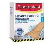 Elastoplast Heavy Fabric Super Strong Adhesion Waterproof Plasters 16 Pack