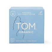 Tom Organic Cotton Pads with Wings 10 Super Pads