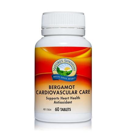 Natures Sunshine Bergamot Cardiovascular Care 60 Tablets