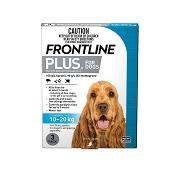Frontline Plus for Medium Dogs 10-20kg Blue 3 Doses