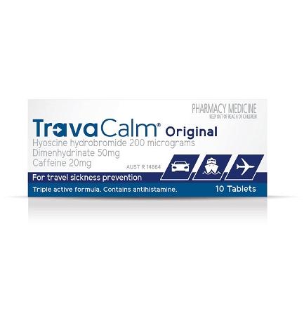 Travacalm Travel Sickness Original 10 Tablets