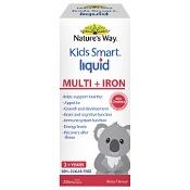 Natures Way Kids Smart Liquid Multi + Iron 98% Sugar Free 200ml