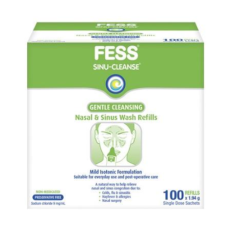 Fess Sinu-Cleanse Gentle Nasal and Sinus Wash Refills 100 Sachets
